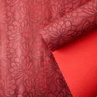 Бумага упаковочная крафт, бордово-красный, 0,5 х 10 м