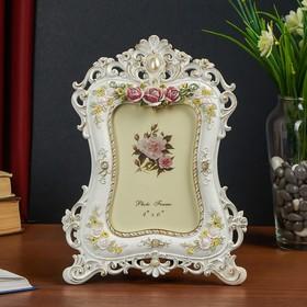 Polyresin photo frame 10x15 cm Flowers