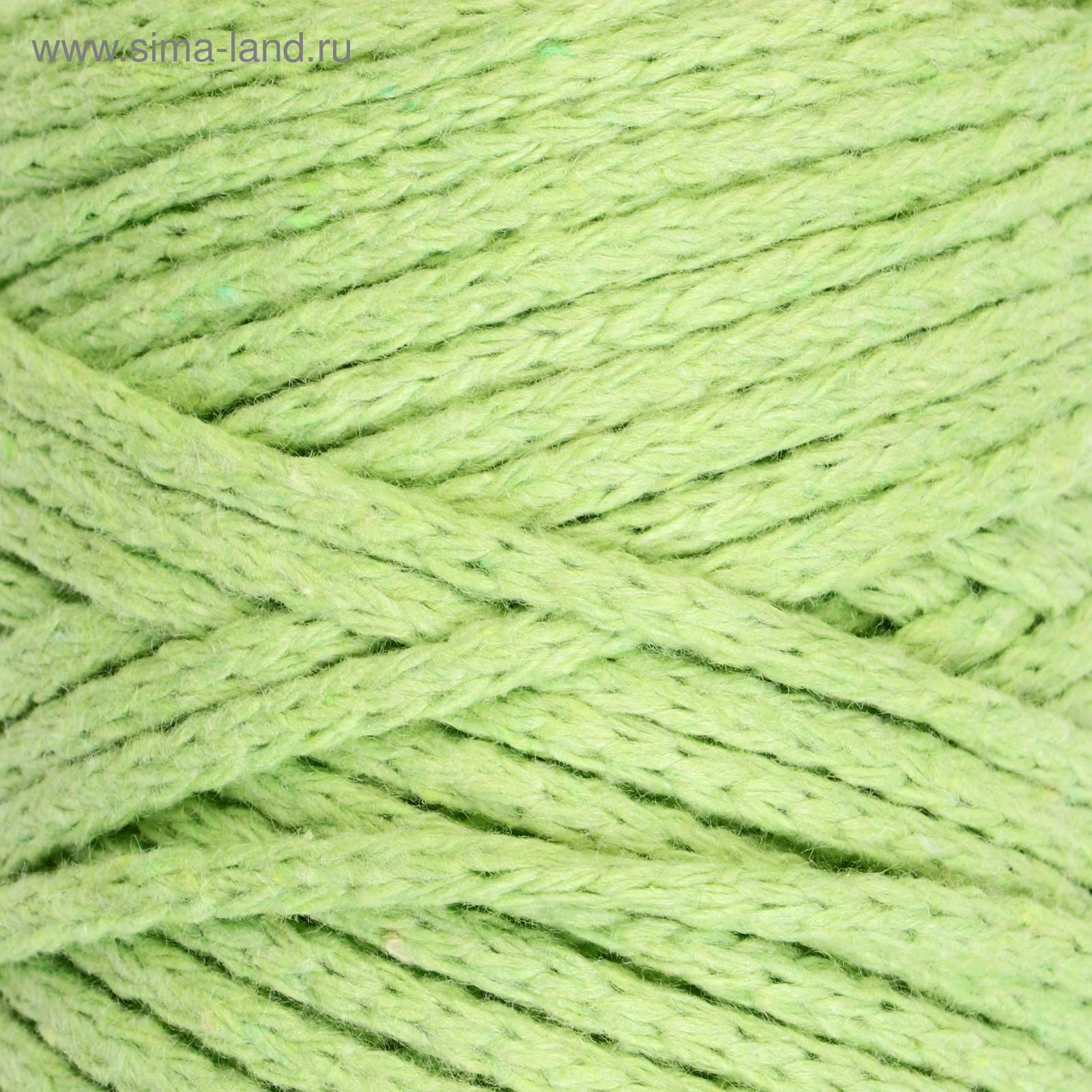 шнур для вязания без сердечника 100 хлопок ширина 3мм 100м250гр