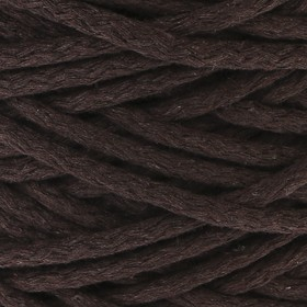 Шнур для вязания 100% хлопок, ширина 5 мм 100м/450гр (тёмно-коричневый)