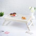 """Столик для завтрака """"Белый узор"""", 48×28 см"""