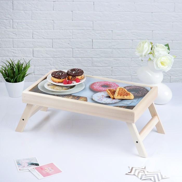 "Столик для завтрака ""Доброго утра"" пончики"