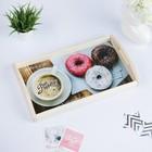 """Поднос для завтрака """"Доброго утра"""" пончики 50х7х29,5см"""