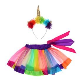 "Carnival set ""Love"" 2 pieces: headband, skirt 3-4 years"