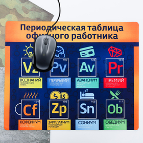 """Коврик для мыши большой """"Периодическая таблица"""", 43 × 35 см"""