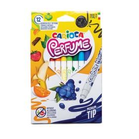 """Фломастеры 8 цветов Carioca """"Perfume"""" ароматизированные, смываемые, картон, европодвес"""
