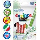 Фломастеры для ткани 10цв Carioca Fabric Liner 2.6 мм, к/к 42909