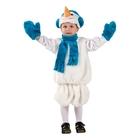 Карнавальный костюм «Снеговик», размер 28, рост 110 см