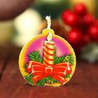 "Candle-medallion ""Christmas candle"" 4х4см"