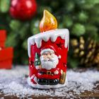 """Подсвечник керамика """"Дед Мороз свеча"""" 11,7х6,5х6,5 см"""