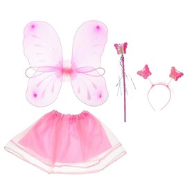 "Carnival set ""Butterfly"" of 4 items: wings, wand, skirt, headband 3-5 years"