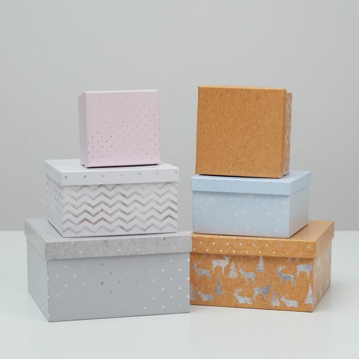 Набор подарочных коробок 6 в 1 «Зигзаги», 18 × 18 × 10‒8 × 8 × 4.5 см