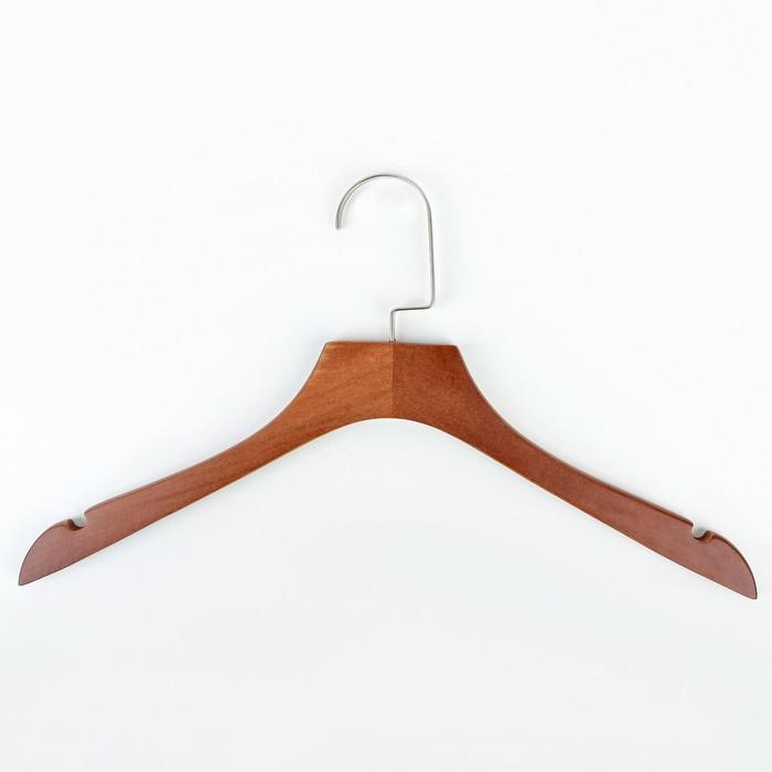 Вешалка-плечики 38×12.5×1.2 см, дерево сорт А, эвкалипт