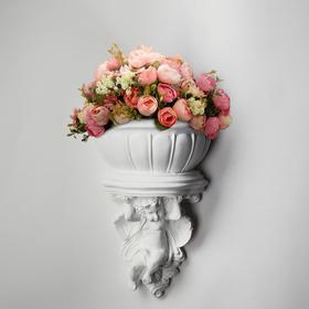 """Кашпо """"Ангел"""", белый цвет, 18 х 19 см"""