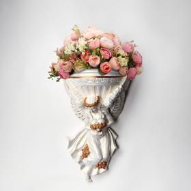"""Кашпо """"Ангел"""", белый цвет, 18 х 20 см"""