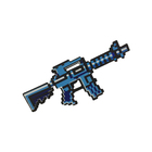 Игрушка автомат «М4 8Бит», синий, пиксельный, 39 см