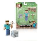 """Фигурка Minecraft Steve """"Игрок с аксессуарами"""", пластиковая, 8 см"""