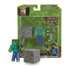 """Фигурка Minecraft Zombie """"Зомби с аксессуарами"""", пластиковая, 8 см"""