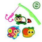 """Set of toys for the bath """"the meadow"""": EVA stickers, 3 PCs. rod"""