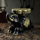 """Сувенир-подставка """"Индийский слон"""" чёрный с золотом, 26 см"""