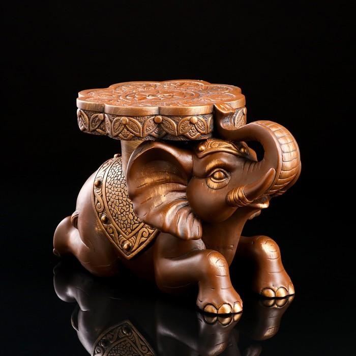 "Сувенир-подставка ""Индийский слон"" 39 х 26 см бронза"