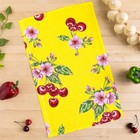 Полотенце вафельное Collorista Вишни, цвет желтый 35х58,100% хл,160 г/м²