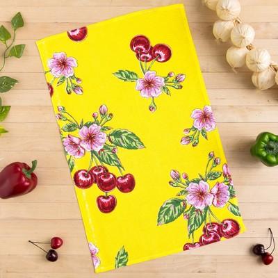 Towel Collorista Cherry, yellow 35х58,100% cotton,160 g/m2