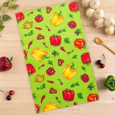 Towel Collorista Peppers, green 35х58,100% cotton,160 g/m2