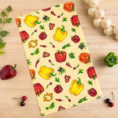 Towel Collorista Peppers, beige 35х58,100% cotton,160 g/m2