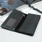 Кошелёк мужской, 4 отдела, для карт, для монет, цвет чёрный - фото 60262