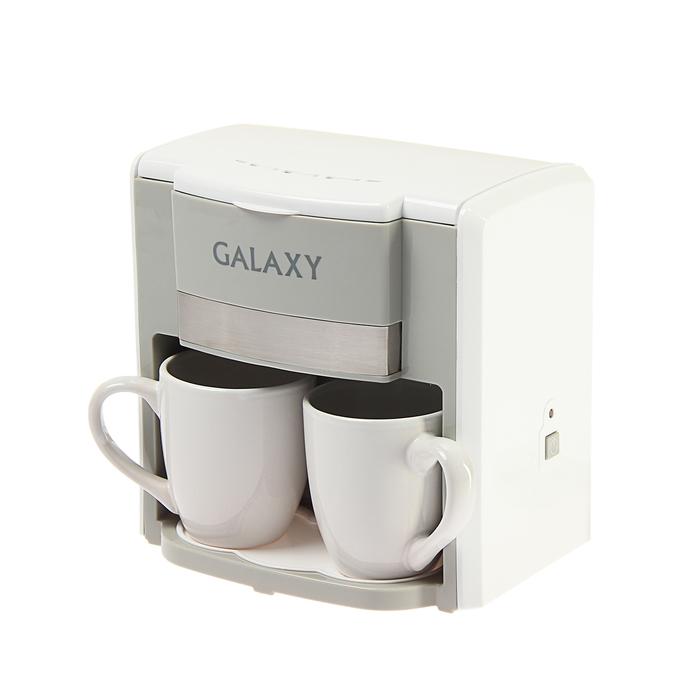 Кофеварка Galaxy GL 0708, капельная, 750 Вт, 0.3 л, белая