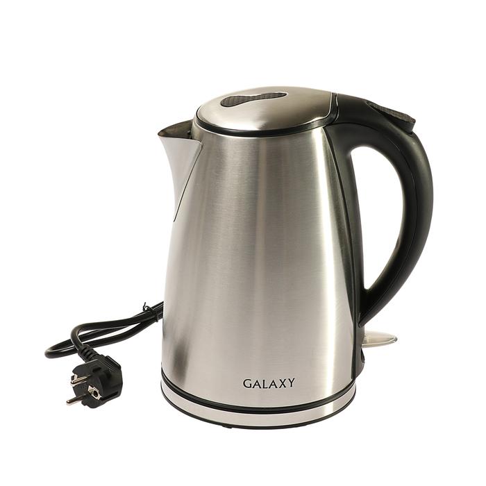 Чайник электрический Galaxy GL 0308, 2200 Вт, 1.8 л, металл, серебристый