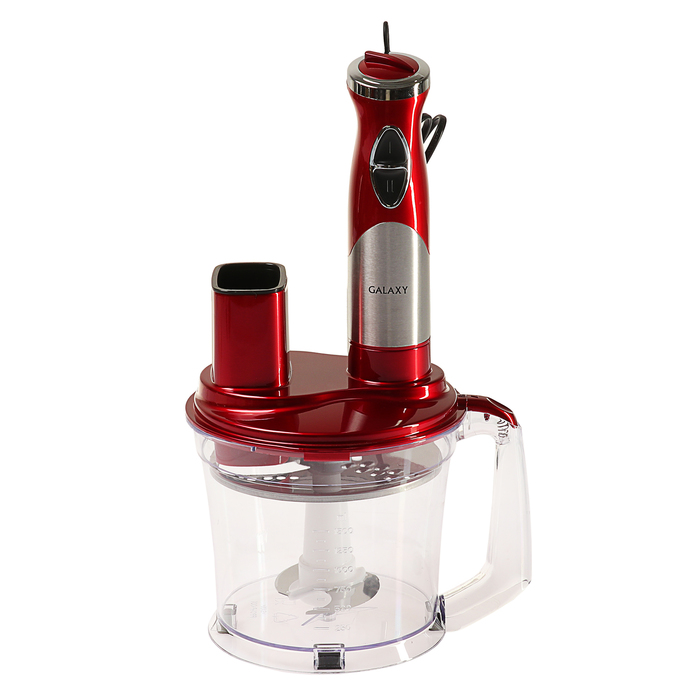 Кухонный комбайн Galaxy GL 2304, 700 Вт, 1.5 л, с ножом из нерж. стали, насадка-блендер