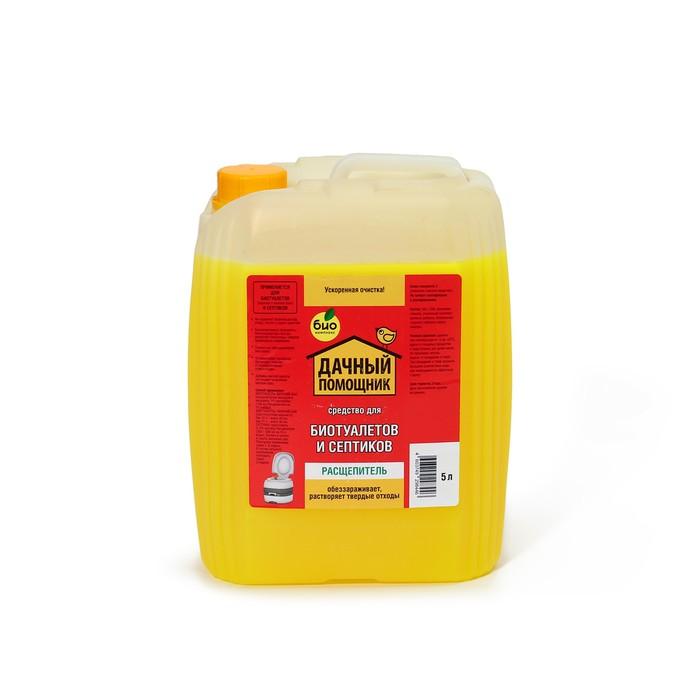 Жидкость для биотуалета нижнего бака, расщепитель, 5 л, «Дачный помощник», концентрат
