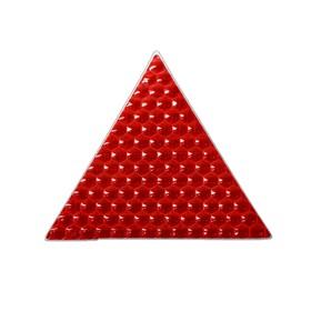 Наклейка на авто, светоотражающая, треугольник 5x5 см, красный Ош