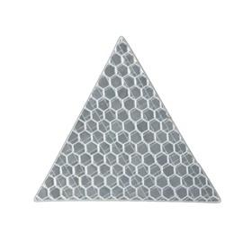 Наклейка на авто, светоотражающая, треугольник 5x5 см, белый Ош