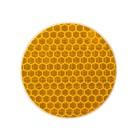 Светоотражающая наклейка, круг D5 cм, желтый