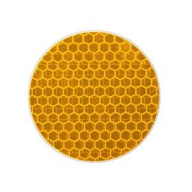 Наклейка на авто, светоотражающая, круг d 5 cм, желтый Ош