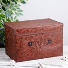 Короб для хранения с крышкой «Мотив», 47×31×30 см, цвет коричневый - фото 308331912