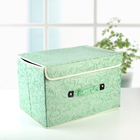 Короб для хранения с крышкой «Мотив», 47×31×30 см, цвет зелёно-бежевый - фото 308331926