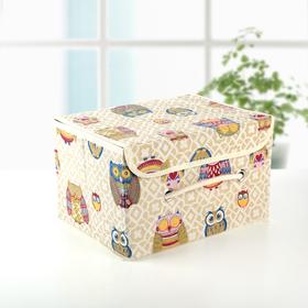 Короб для хранения с крышкой «Совушки», 28×21×17 см