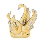 """Сувенир """"Танец лебедей"""" золотистый"""