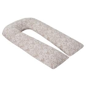 Наволочка к U-образной подушке для беременных, размер 35×340 см, дамаск кофе