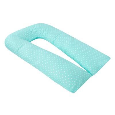 Наволочка к U-образной подушке для беременных, размер 35×340 см, сердечки мята