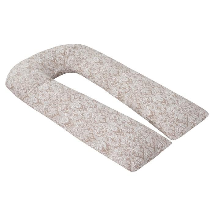 Подушка для беременных U-образная, размер 35 × 340 см, дамаск кофе