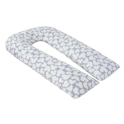 Наволчка к U-образной подушки для беременных, размер 34×170 см, мышонок серый