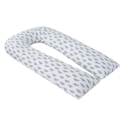 Наволчка к U-образной подушки для беременных, размер 34×170 см, облака серый