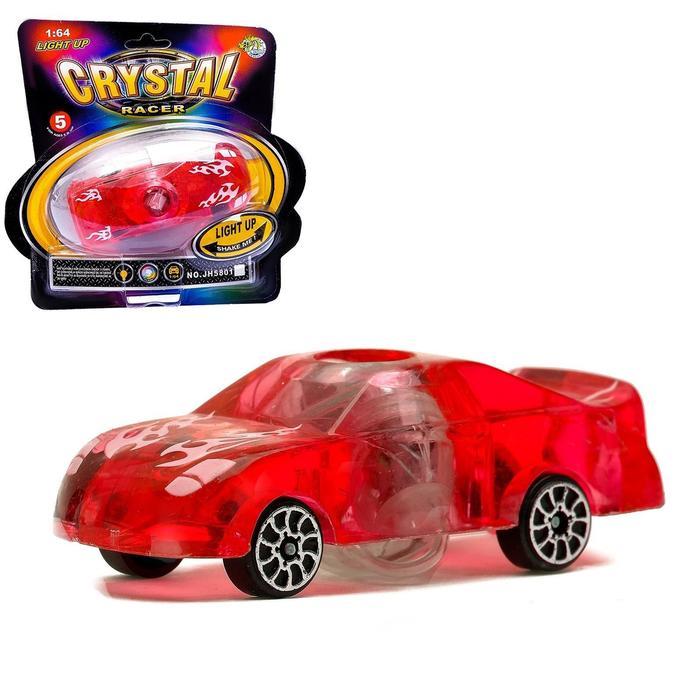 """Машина """"Кристал"""", работает от батареек, световые эффекты, цвета МИКС"""