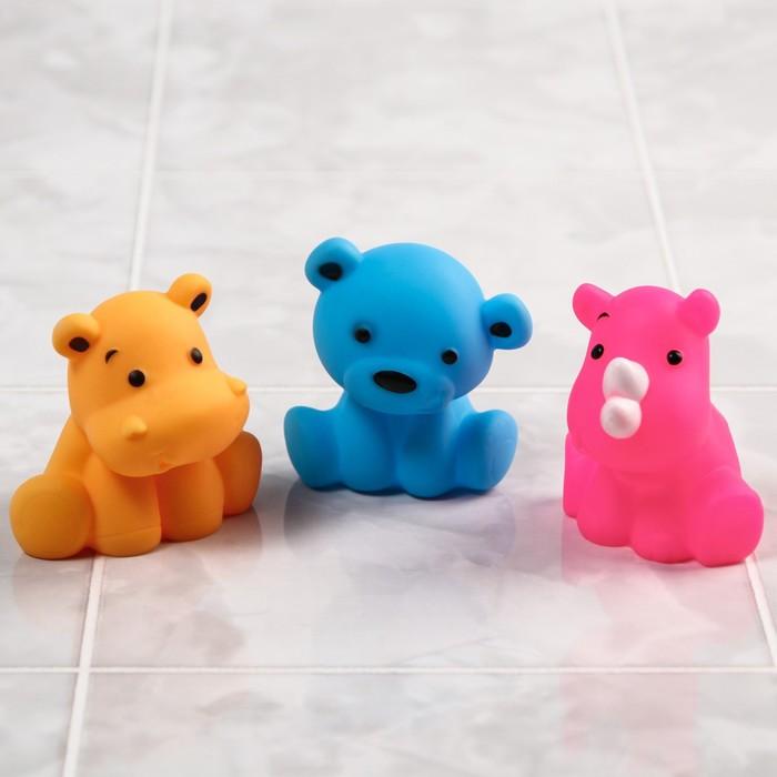 Игрушки для ванны «Друзья 2», набор 3 шт., цвета МИКС - фото 105534787