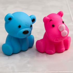 Набор и игрушек для ванны «Мишка и Носорог», 2 шт.